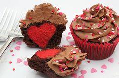 Hidden heart cupcakes recipe - goodtoknow