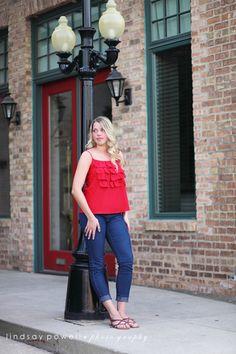 senior portraits around town, urban senior photos, senior pose ideas