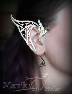 Elf Ear Cuff  Dragon Ear Cuff  Elf Fantasy jewelry