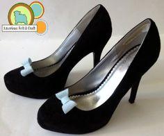 Tiny bow shoe clips