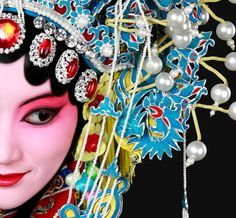 Chinese beauty > this is a character in Peking Opera, unfortunately I do not know the name.
