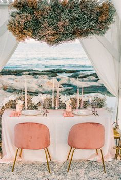 Beach Vow Renewal in Greece With Clouds of Baby's Breath vow renewal reception details in coral and papaya hues Floating Flowers, Hanging Flowers, Boquette Flowers, Wedding Trends, Wedding Styles, Wedding Ideas, Diy Wedding, Flower Decorations, Wedding Decorations