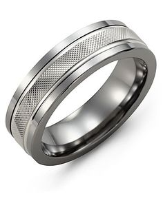 Engagement & Wedding Jewelry & Watches Titanium 14k Yellow Inlay Flat 8mm Wedding Ring Band Size 10.50 Precious Metal Fashionable Patterns