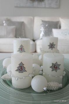 Coconut White: DIY - white advent calender