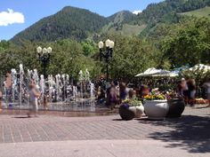 Downtown Aspen in the summer June 27 2012
