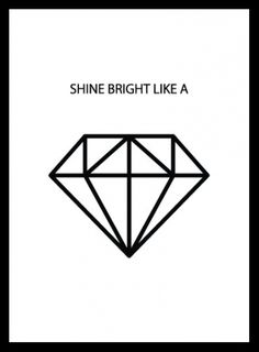 Affisch med diamant