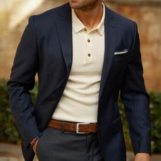 Young Men's Style Guide - 21 Essentials To Buy Before You're 21 - Men's style, accessories, mens fashion trends 2020 Blazer Outfits Men, Mens Blazer Styles, Mens Sweater Outfits, Blue Blazer Outfit, Men's Outfits, Best Casual Shirts, Moda Formal, Look Blazer, Herren Outfit