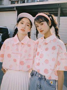 Pink Outfits, Pretty Outfits, Cute Outfits, Fashion Outfits, Pretty Clothes, Harajuku Fashion, Kawaii Fashion, Peach Clothes, Pastel Clothes
