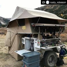 Camping: A Fun Time In Nature. How long has it been since you went camping? Camping provides a great opportunity to relax, enjoy nature, and reflect on your life. Jeep Camping Trailer, Jeep Tent, Trailer Tent, Off Road Camper Trailer, Tent Campers, Trailer Build, Truck Camping, Camper Trailers, Folding Campers