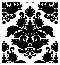 Damask stencil from The Stencil Library online catalogue. Buy stencils online. Stencil code SIB20-S.