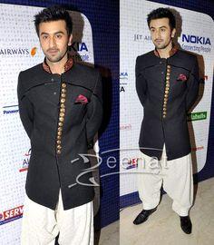 Google Image Result for http://www.zeenatstyle.com/images/2011/05/Ranbir-Kapoor-Men-Kurta-Sherwani.jpg