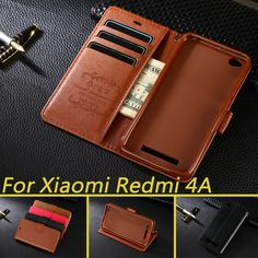 Mobile Phone Bags Cases Case For Xiaomi Redmi 4A Luxury Wallet Leather Case Stand Flip Card Hold Phone Cover Bags For Xiaomi Redmi 4A *** View the item on AliExpress website in details by clicking the VISIT button