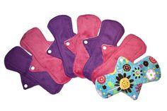 SALE7 Soft 9 1/2 Minky Pads Set/Reusable Cloth Pads/