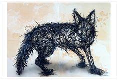 '80th Anniversary - Assassin' 160x115cm, ink_acrylic_tea on paper