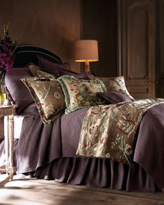 """""""Renaissance"""" Bed Linens - traditional - bedding - - by Horchow Home Bedroom, Bedrooms, Bedroom Ideas, Linen Bedding, Bed Linens, Comforters, Home And Garden, Blanket, Pillows"""