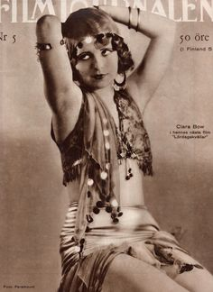 Gypsy Woman ☆ Clara Bow on the cover of Filmjournalen magazine, March 1929 ☆