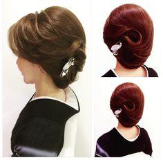 和髪 Bun Hairstyles, Wedding Hairstyles, Up Styles, Hair Styles, Hair Arrange, Japanese Hairstyle, Hair Reference, About Hair, Hair Art