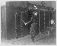 Young women exercising, 1899.