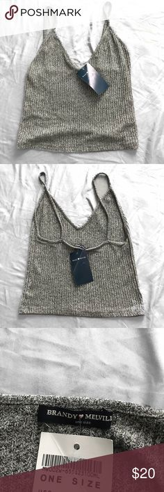 Brandy Melville Grey Tank NWT Brandy Melville Grey Tank Top. Super cute and super soft! No long sold in stores or online.   If bought let me know in the comments and i can add some brandy stickers!  Brandy Melville Tops Tank Tops