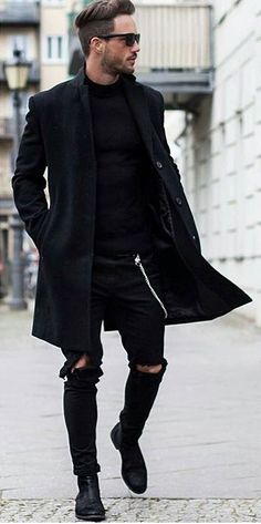 Pants should have more room and not be torn but the coat isn't bad. #mensoutfitsstylish