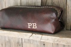 Blackberry Leather Dopp Kit Leather Shaving by LifetimeLeatherCo