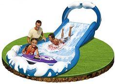 Surf Slide Riders Handles Water Garden Summer Kids Play Party Fun Sprayer Mat