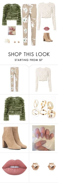 """Untitled #926"" by alwateenalr on Polyvore featuring Valentino, A.L.C., Alice + Olivia, Yves Saint Laurent, Lime Crime and River Island"