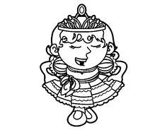 Dibujo de Princesa saludando para colorear