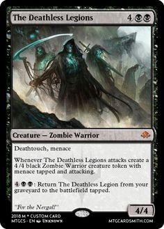 Black Zombie, Mtg Decks, Mtg Art, Design Cards, Legendary Creature, Magic The Gathering Cards, Cyberpunk 2077, Card Tricks, Magic Cards