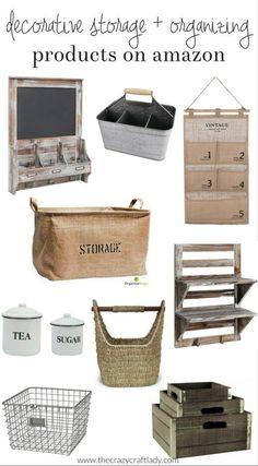 Decorative Storage and Organizing products on amazon - affordable farmhouse style organizing options