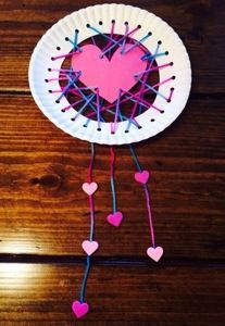 Dream Catcher ~ Valentine's Craft for 4th Grade Class Party! XOXO