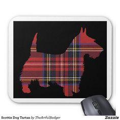 Scottie Dog Tartan Mouse Pad