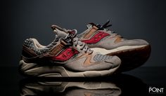 "Saucony Grid 9000 ""Liberty Pack"" Grey Red"
