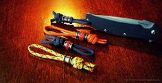 Titanium lanyard beads and knot work