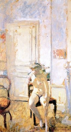 Nude on a Chaise - Edouard Vuillard - 1904
