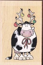 Penny Black Rubber Stamp - Pesquisa Google Penny Black Cards, Penny Black Stamps, Christmas Animals, Christmas Art, Cow Colour, Cow Pictures, Hand Drawn Cards, Black Cow, Cow Pattern