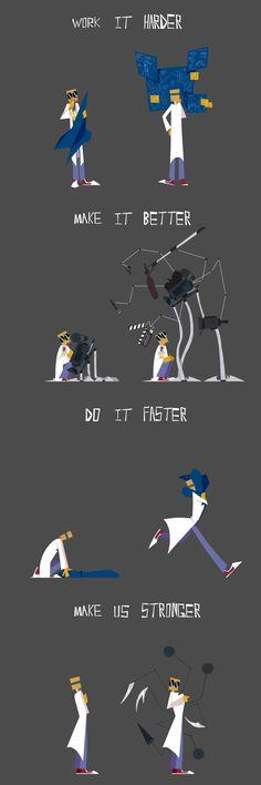 Daft Punk - Harder, Better, Faster, Stronger 들으며 그냥 끄적인거 Cartoon Games, Cartoon Shows, Cartoon Network, Jim Morrison Movie, Daft Punk, Hat Organization, Villainous Cartoon, Memes, Paint Colors For Living Room
