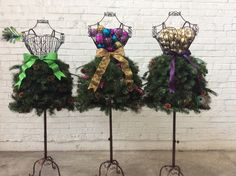 Christmas in July: DIY Dress Form Christmas Trees on Sale - Dress Form Christmas Tree, Christmas Tree Sale, Christmas In July, Xmas Tree, Christmas Decorations, Christmas Wreaths, Christmas Crafts, Merry Christmas, Winter Window Display