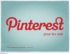 Pinterest pour les nuls by Céline Camoun via slideshare