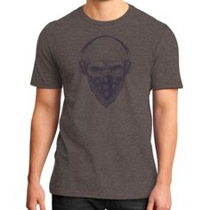 Skull with Headphones District T-Shirt (on man)