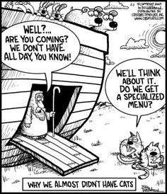 """We almost didn't have cats...   - """"Free Range"""" by Bill Whitehead;  4/11/09"""