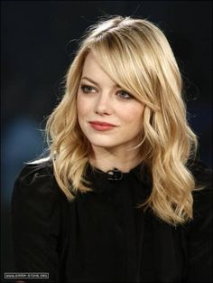 Pictures of side swept bangs | Side swept bangs, loose waves