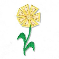 Garden Flower Applique - 2 Sizes! | Spring | Machine Embroidery Designs | SWAKembroidery.com Abigail Michelle