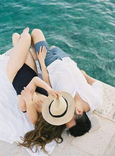 A California couple's romantic destination engagement session in Croatia. #destinationengagement #engagementsessionideas