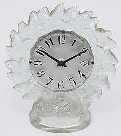 Lalique Roitelets Clock