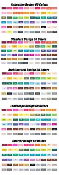 60 colors Touch five art mark pen Alcohol Marker pen by Foryoubest