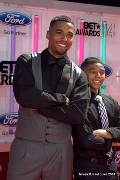 Actor/Singer Christian Keyes (Let's Stay Together) and son.