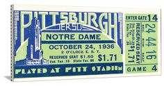Pitt claimed a share of the 1936 National Title and beat Notre Dame 26-0 in this game. http://www.shop.47straightposters.com/1936-Notre-Dame-vs-Pitt-Football-Ticket-Art-36-PITT.htm