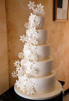 Winter wedding cake.