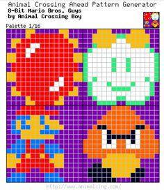 8-Bit Mario Bros. Guys_Palette 1/16